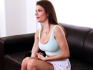 Big Tits Hottie in A Casting Couch Fuck And Facial