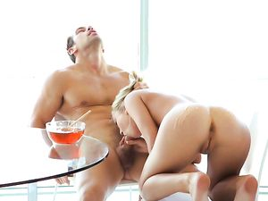 Teen Coated In Tasty Honey And Fucked By A Big Cock
