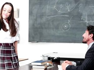 Big Teacher Cock Bangs The Sexy Teen Student Hardcore