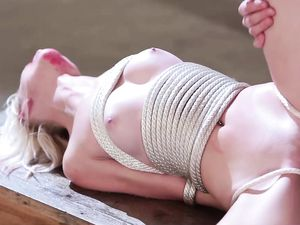 Tied Up Teen Blonde Fucked And Facialized