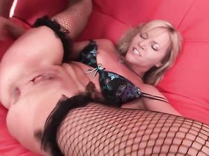 Using A Blonde Girl Roughly To Make His Dick Cum