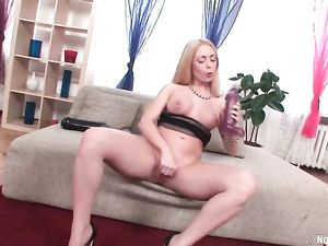 Gangbanged Blonde Girl Has Gorgeous Big Fake Tits