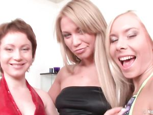 Naughty Lesbian Beauties Stripping And Fisting Asses