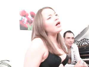 Cutie Models Her Curvy Body And Sucks His Dick