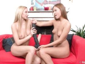 Sexy Tits On Teens Sucking Their Massive Dildos