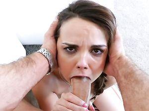 Busty Young Suck Slut Makes His Big Dick Throb