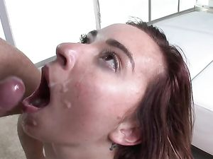 Teen Spreads Wide Open For Big Cock Fucking