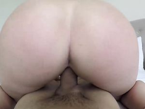 Amazing Curvaceous Ass Girl Rides In Reverse Cowgirl