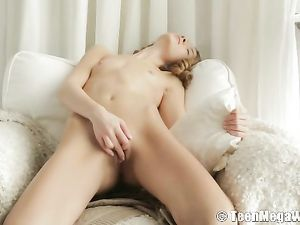 Camisole And Panties Teen Masturbates So Tenderly