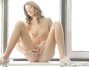 Clit Rubbing Teenage Girl With Tiny Titties