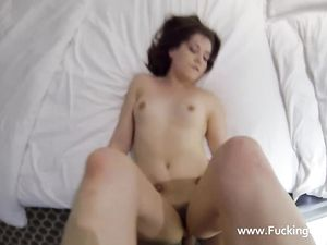 Skintight Skirt Looks Good On His Sexy Escort Girl