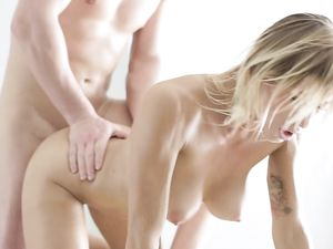Making Love On A Massage Table With A Perfect Blonde