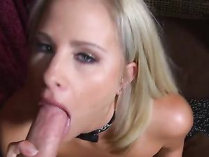 Beauty With Sexy Fake Titties Wants To Suck Your Cock