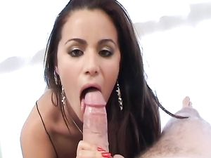 Latina With A Fine Ass Climbs Aboard And Rides Him