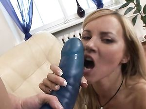 Lesbians And Their Giant Toys Have Hot Strapon Sex
