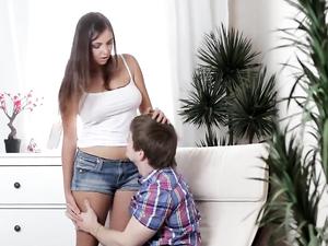 Brunette Gets Creampied By Her Loving Boyfriend