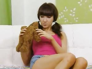 Teen Prefers Hard Dick Over Her Teddy Bear
