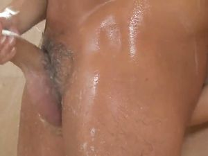 Petite Asian Jerks Him Off In A Warm Shower