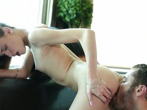 Lovely Facial For Cute Young Brunettes In A Threesome