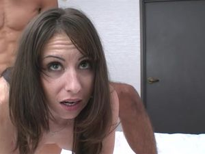 Creampie For A Brunette Hottie After Hot Sex