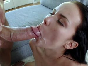 Slurping A Long Dick Before Getting It In Her Pussy