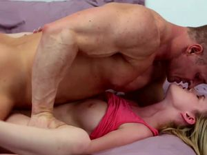 Petite Blonde Gets Choked And Fucked At The Same Time