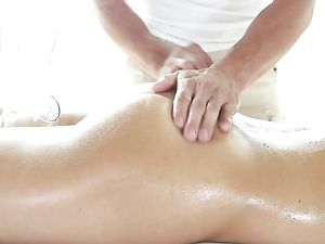 Big Masseur Dick Buried In The Ass Of Adriana Chechick