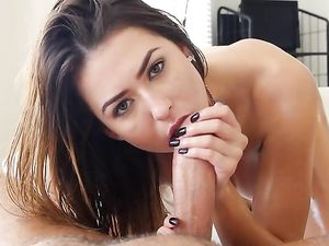 Melissa Moore Oils Her Tits And Ass To Turn Him On