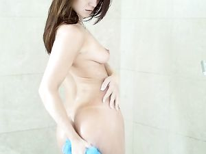 Dildo And A Real Dick Pleasure Her Bald Pussy