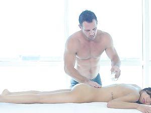 Skinny Hottie On His Massage Table Fucked Hard