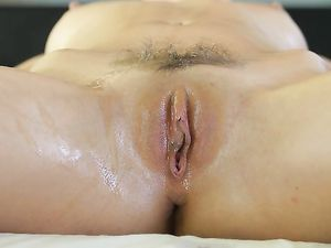 Oiled Marley Brinx Fucked By Her Big Cock Masseur