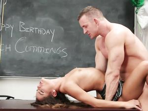 Birthday Banging Of Her Flawless Teenage Pussy