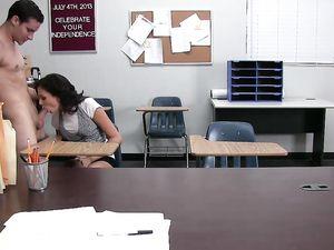 Smoking Hot Student Ariana Marie Fucks In Class