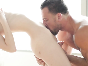 Panty Girl On Her Knees Worshiping Hard Cock