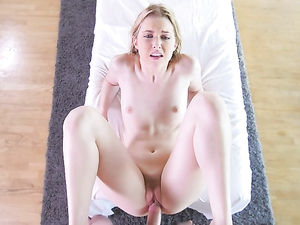 Making Massage Table Love To A Sexy Blonde Girl