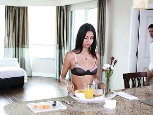 Breakfast In Lingerie Leads To Beautiful Fucking