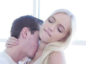 Passionately Kissing This Petite Blonde Teen Dream Girl