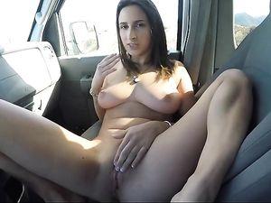 Slut In His Van Gets In The Back For Hot Fucking