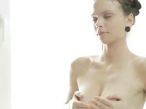 Masturbating Teen Has Perfect Perky Natural Tits