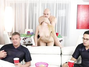 A Shameless Slut Satisfies Her Honry Needs At The Party